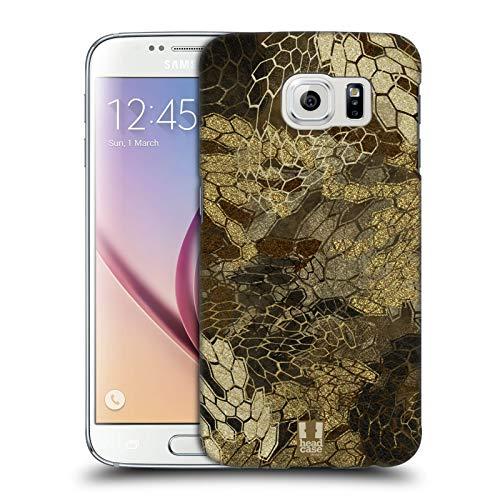 Head Case Designs Vista de Vuelo de Pato/Aves acuáticas Insignia de Camuflaje Hunting Carcasa rígida Compatible con Samsung Galaxy S6