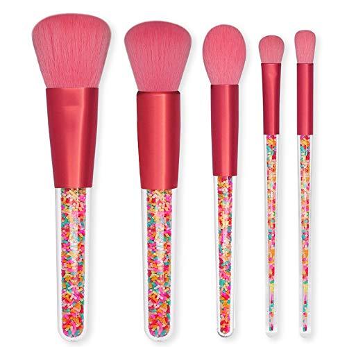 Pinceaux 5pcs bonbons brosses de maquillage avec poignée transparente Fondation ombre à paupières eyeliner maquillage pinceaux ensembles Beauté du visage