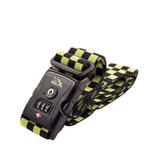 Cabin Max TSA 3 dial Lock and Luggage Strap - 80' Long Green