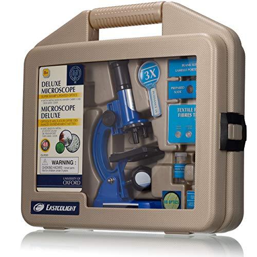 University of Oxford - Microscopio Infantil (100-1200x, en maletín de Transporte, Incluye Accesorios para Empezar de inmediato)