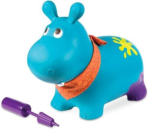 Kinder Bouncy Pferdetrichter Aufblasbare Prahler Spielzeug Prallen Tier Reiten-auf Spielzeug, Beste Umweltfreundliche Gummi, Handpumpe,Blau
