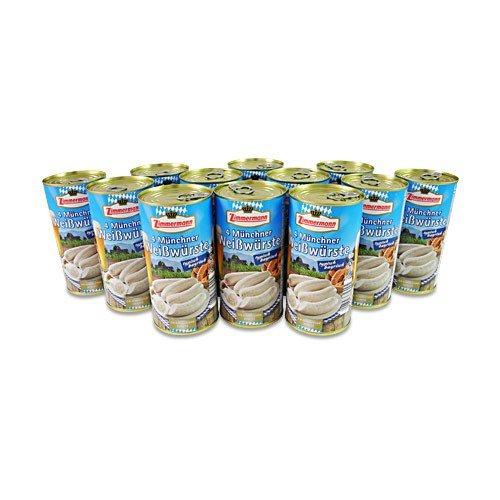 Münchner Weißwürste 12er Pack (12 Dosen à 4 Stück / 250 g)