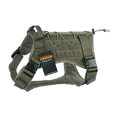EXCELLENT ELITE SPANKER Tactical Service Dog Vest Training Hunting Molle Nylon Water-resistan Military Patrol Adjustable K9 Dog Harness with Handle