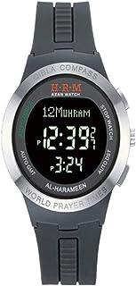 HXZB Musulman Azan Montre-Bracelet, Digital Classic Sport Montre avec Calendrier Qibla Compass dans Le Monde Horaires des ...