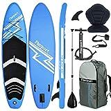 FBSPORT Tabla Sup Hinchable, Tabla de Surf Hinchable, Tabla Inflable de Paddle Surf, Sup Kit con Remo de Aluminio, Asiento de Kayak+Accesorios Completos | Medidas: 300×76×15cm