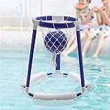 Gidenfly Flotante Hoop Game Wasserspielzeug Pool Game Floating Pool Basketball Hoop para niños y adultos, hinchable, con 1 Balls + red + 3 x Foam Cotton para 3 4 5 6 7 años de edad, niños y niñas