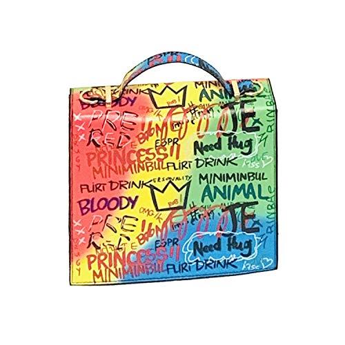 Hermoso bolso de mano transparente degradado multicolor para mujer, colorido bolso de jalea de PVC, bolso de hombro de moda rombica mate