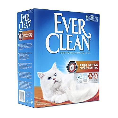 Ever Clean Arena para Gatos Fast Acting Odour Control, 10litros, Perfumada, 9000 g