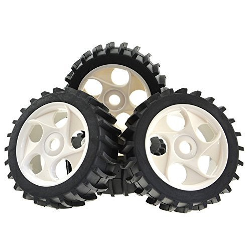 Rowiz 4pcs Gray Beach Desert/Snow Tires 5 Holes Wheels Hex 17mm for 1/8 RC Off Road Buggy Baja