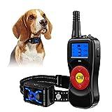 ULTPEAK 2 Dog Training Collars, Waterproof Anti Bark Remote Collar, Rechargeable 2 Auto