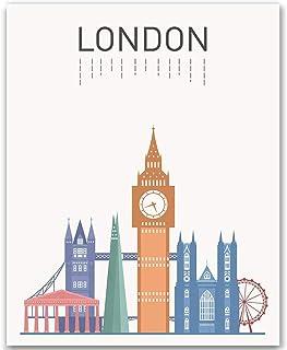 London Print London Art London Landmark Print Big Ben London Famous Building London Tower Art London City Print Gift Idea ...
