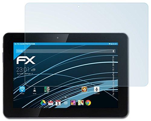 atFolix Schutzfolie kompatibel mit HannSpree HannsPad 10.1 SN1AT71B Folie, ultraklare FX Bildschirmschutzfolie (2X)