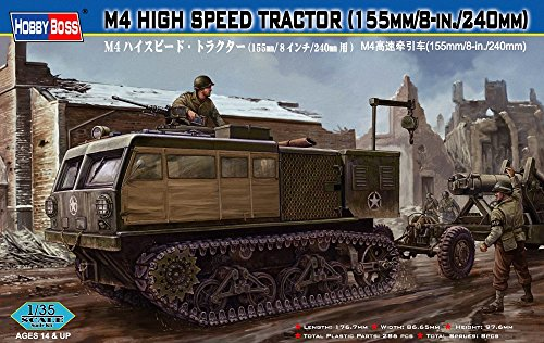 Hobby Boss - M4 HIGH SPEED TRACTORS 155 mm/8-in/240 mm