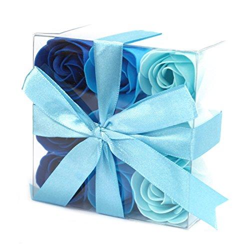 Lot de 9 Roses de Savon - Bleue