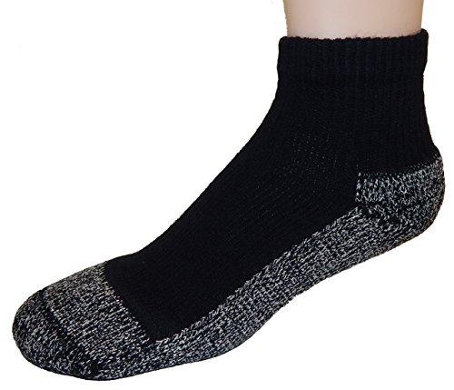 Cushees nero spessore calzini alla caviglia, 3-pack [Medium (donna o ragazzi grande 167)]