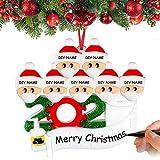 Airabc Decorazioni per Albero di Natale Sopravvissuto Famiglia 2020 Ornamenti Natalizi Decorazioni per Le Vacanze di Natale, Decorazione per la casa, Personalizzate Regalo di Natale,Family-7