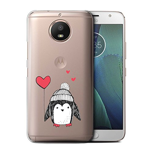 Stuff4®®®®®®®®®® Phone Case/Cover/Skin/Moto-CC/Cute Doodle Penguin Collection Motorola Moto E4 2017 Hart-ballon