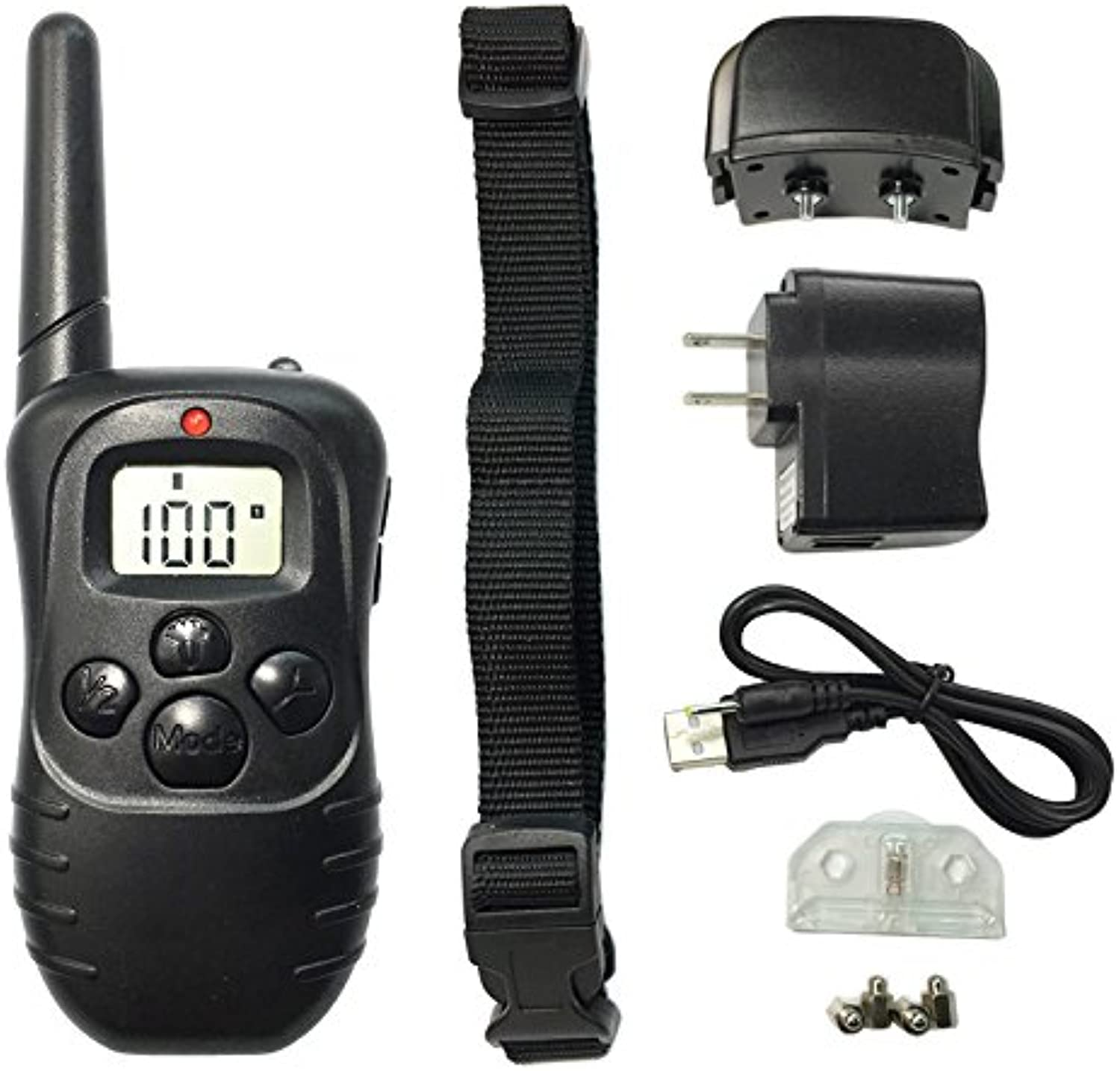 98DR1 Rechargeable And Waterproof 300M Remote Vibration Shock Electronic 100Level Dog Electric Collars