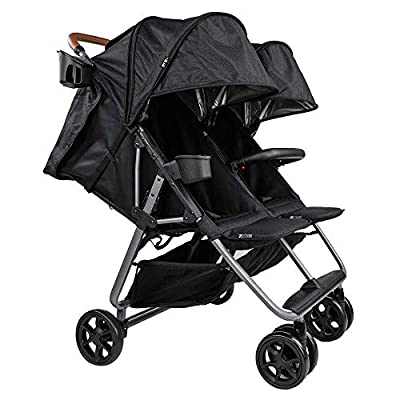 The Twin+ Luxe (Zoe XL2) - Best Double Stroller - Everyday Twin Stroller with Umbrella - UPF 50+ - Tandem Capable