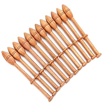 Lace Bobbin Hardwood 12pcs 4.3in Practical DIY Beech Lace Bobbin Sewing Tools Durable Lace Robbin Weaving Tools for Hand-knitting DIY Tools Such as Sweaters Hats Scarves Gloves Socks Shoes