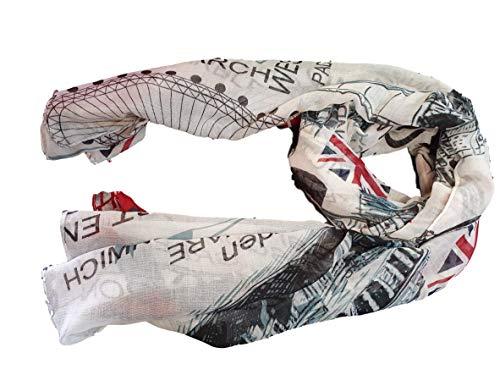Union Jack Scarf - London Souvenir Gift - Soft,...