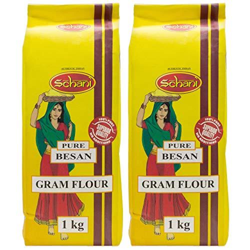 Schani - Gram Flour - Kichererbsenmehl im 2er Set à 1 kg Packung