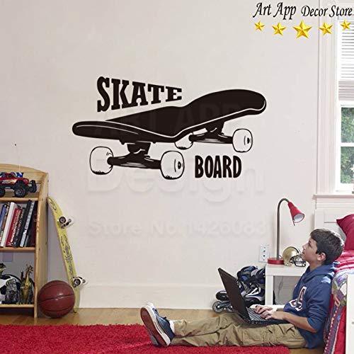 Gute qualität Skate Board wandaufkleber abnehmbare Kunst billig Dekoration Vinyl X-Games Sport Zimmer 30 * 58 cm