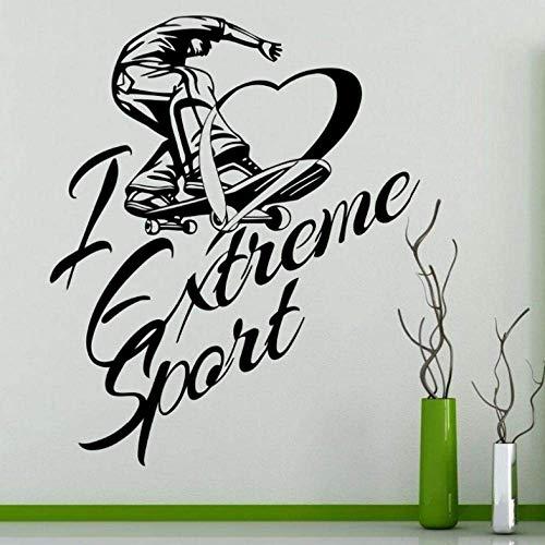 Wandaufkleber Wandbilder 58X71 Cm Skateboarding Aufkleber Skifahren Poster Vinyl Wandtattoos Dekor Wandbild Skating Auto Aufkleber Aufkleber
