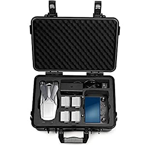 Lekufee Waterproof Hard Case with Foam Insert for DJI Mavic 2 Pro/Mavic 2 Zoom and New DJI Smart Controller