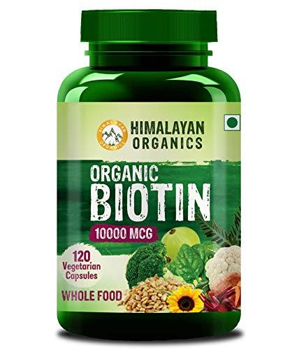 Himalayan Organics Organic Plant Based Biotin 10000mcg /Serve - 120 Veg Capsules