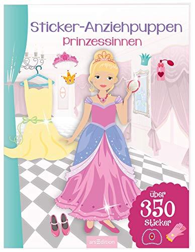 Sticker-Anziehpuppen - Prinzessinnen: Über 350 Sticker | Coole Styles für Modefans ab 5 Jahren