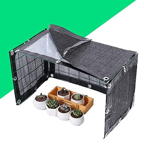 SHIJINHAO-Sichtschutznetz Sonnensegel Regenfest Sun Shed Shade Isolierung Sukkulenten Garten Gewächshaus-Blumen-Raum Blumenständer (Color : Black-B, Size : 150X42X42)