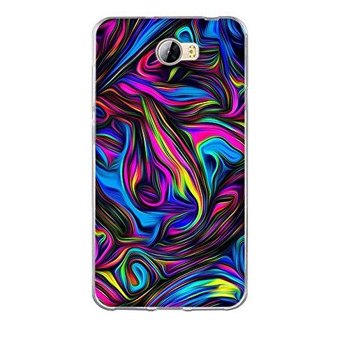 FUBAODA für Huawei Y5 II Hülle, [Farbe wirbelt] Silikon Schutzhülle für Huawei Y5 II Y5 2 Hülle Durchsichtige TPU Bumper für Huawei Y5 2 Handyhülle