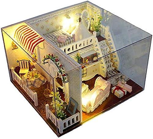 Puppenhaus DIY Haus Margaret Craft montiert kreative Geb e Modell Spielzeug aus Holz DIY Dollhouse Mini Handmade Kit für mädchen Kabine M hen Dekoration Haus Handcraft Miniaturm