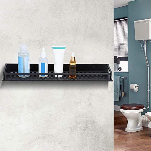 2 Estantes de ducha para baño, cesta de ducha, estante adhesivo de almacenamiento para baño, organizador de aluminio montado en la pared para ducha cocina