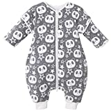 Bebé Saco de Dormir con Piernas Separable 3.5 Tog Invierno Algodón Bolsa de Dormir Mangas Larga Extraíbles Niñas Niños Pijama para 9-24 Meses
