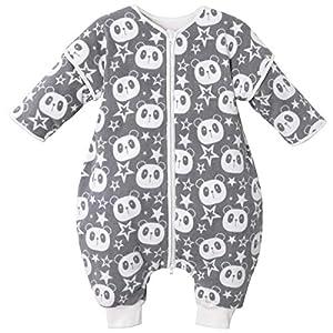 Bebé Saco de Dormir con Piernas Separable 3.5 Tog Invierno Algodón Bolsa de Dormir Mangas Larga Extraíbles Niñas Niños…