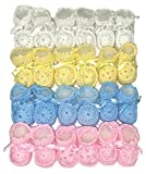 Newborn Baby Boy Girl Hand Crochet Booties (Assorted, 12)