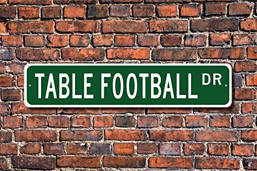 unknow Tischfußball, Tischfußball-Schild, Tischfußball-Fan, Geschenk für Fußballspieler, personalisiertes Straßenschild, hochwertiges Metallschild