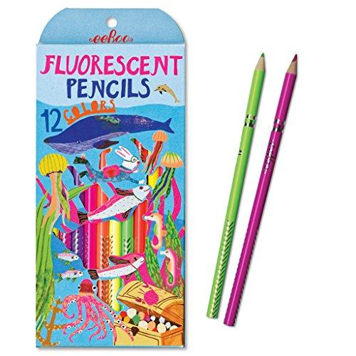 eeBoo, Pencil Sea Fluorescent, 12 Count
