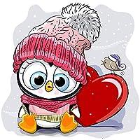 ラインストーン絵画クリスタル装飾Diyダイヤモンド絵画漫画動物フクロウ3Dクロスステッチパターンダイヤモンド刺繡