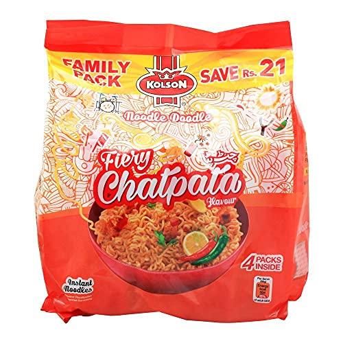 Kolson - Noodles - Fiery Chatpata - Noodles istantanei - 4 confezioni da 65 grammi