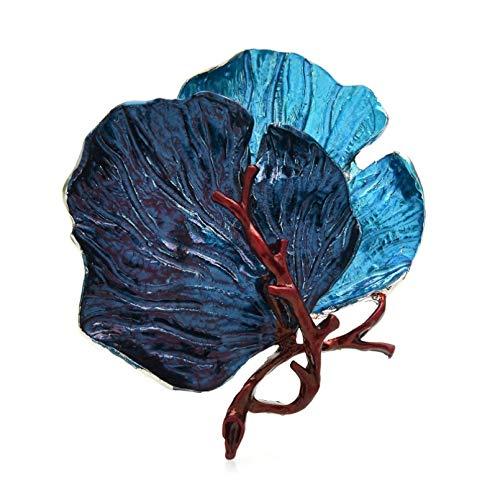 Qpodgq Broche Broches De Hojas Grandes Para Mujer Esmalte De 3 Colores Broche De Oficina Para Fiestas Accesorios De Vestir