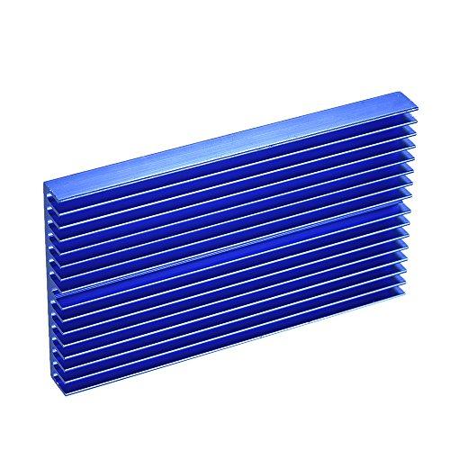 Sazoley Disipador de calor azul de la oxidación del radiador del refrigerador del módulo del disipador de calor de la aleación de...