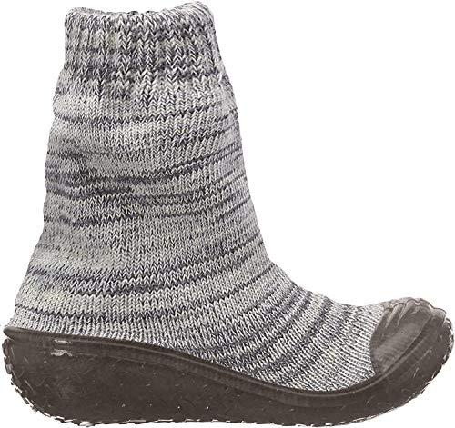 Playshoes Unisex-Kinder Socke gestrickt Hohe Hausschuhe, Grau (Grau 33), 22/23 EU