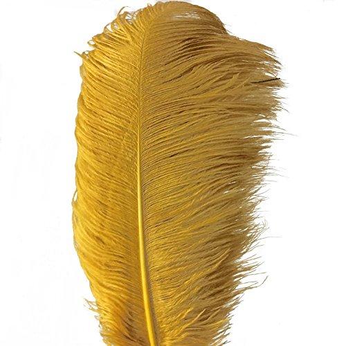AABABUY - Pack de 5 plumas de avestruz natural (40 – 45 cm) para bodas, ropa, fiestas, decoración de mesa, bricolaje