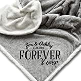 Personalized Wedding Couple Gifts | Anniversary | Engagement Gift Blanket - 50x60'