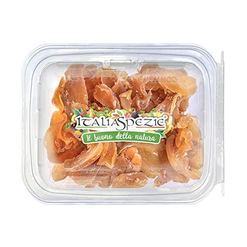 ITALIA SPEZIE - Zenzero disidratato 100% Naturale a Fette 250 g - Essiccato al naturale - senza solfiti aggiunti - frutta disidratata - Confezione Richiudibile Salva Freschezza