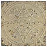 SomerTile FPESAJB Murcia Ceramic Floor and Wall Tile, 13' x 13', Blanco