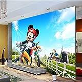 Cartoon Photo Wallpaper Mickey Mouse Wallpaper For Boy Girl's Room Mural De Pared Poster De Seda Large Wall Art Room Decor Dormitorio Home Ancho280cm * Altura180cm
